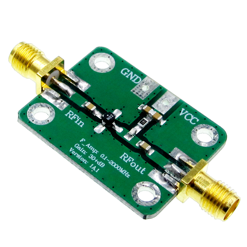0.1-2000 mhz RF Large Bande Amplificateur à Gain Élevé 30dB Amplificateur à Faible bruit LNA Conseil de Développement