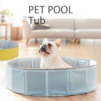 1 шт. летний бассейн Шнауцер складной собака плавание дом кровать щенок котенок Ванна Купание интерактивные Чихуахуа зоотоваров