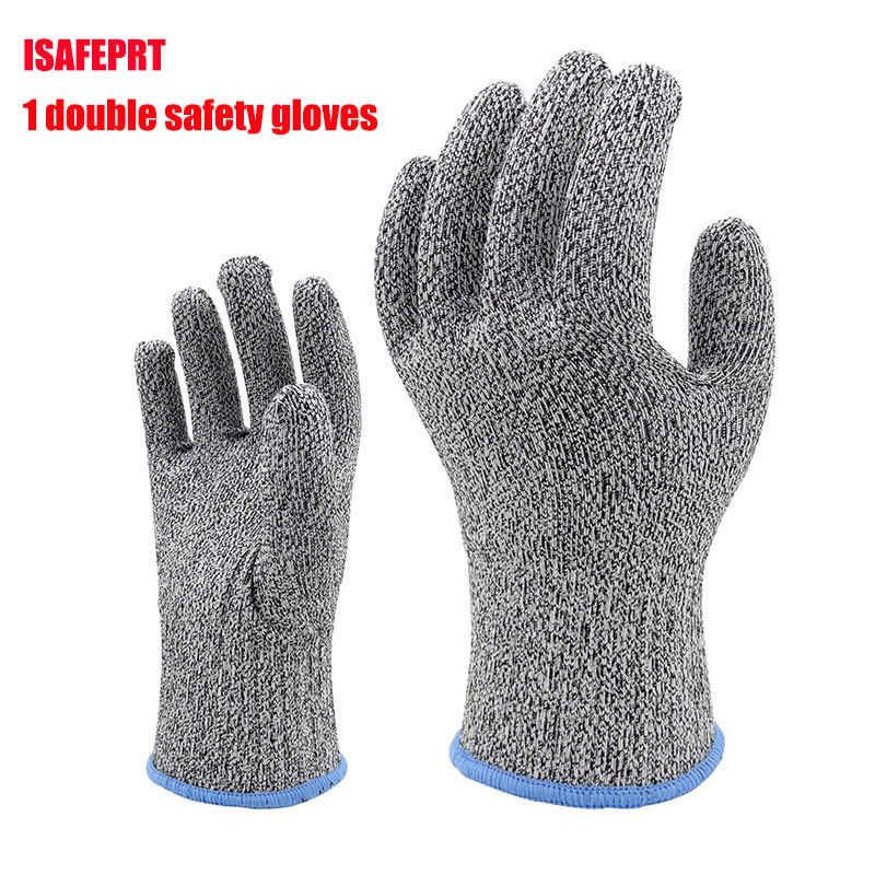 The new 2017 anti cut gloves gray level 5 cut proof gloves 400D di nima yarn safety gloves working 1 double/package nima zaree темно синий свитер