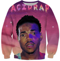 Women/Men Creweneck Casual Sweats Chance The Rapper Coloring Book album cover art clouds sweatshirt HipSter Pullover Jersey