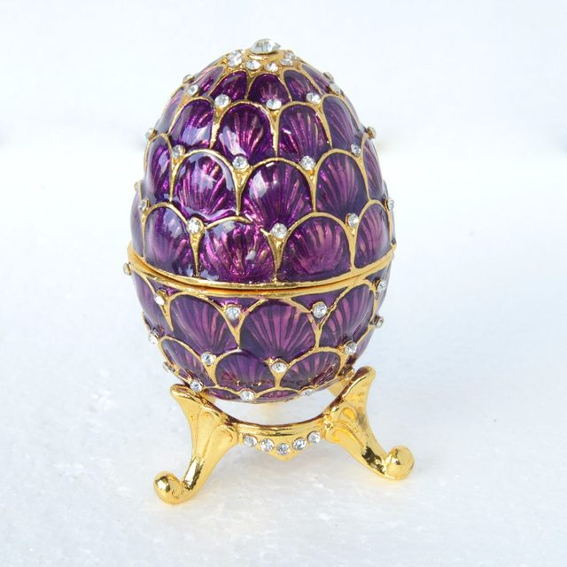 Online shop faberge russian egg jewelry ring trinket treasure box faberge russian egg jewelry ring trinket treasure box easter egg collectible gifts craft wedding jewelry display negle Choice Image