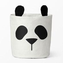 Diniwell в виде милой панды сумка для хранения детские игрушки одежда холщовая корзина для белья сумка для хранения может стоять декор комнаты 30*40 см