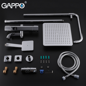 Image 5 - GAPPO Thermostatic shower faucet bathroom cold hot water  faucets rotatable lifting type brass rainfall shower mixers