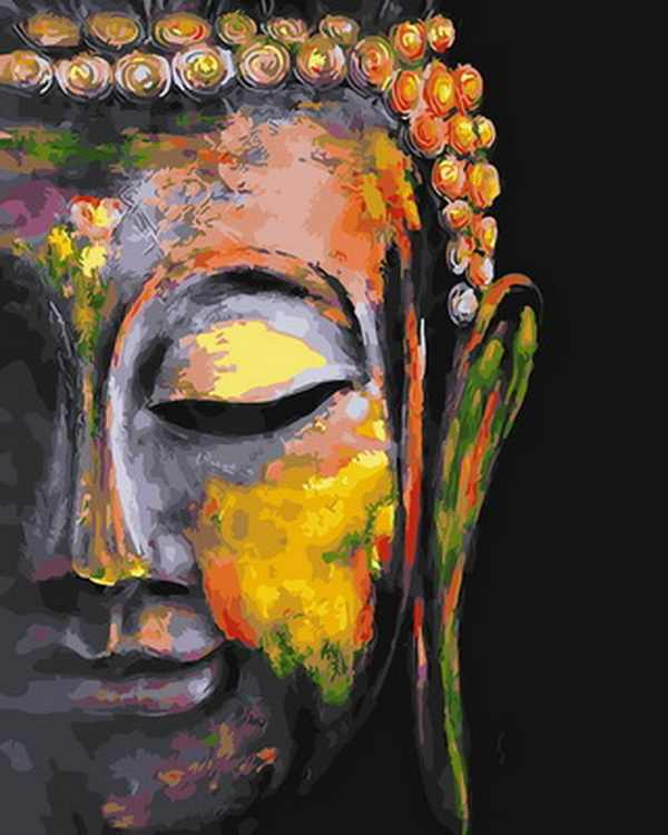 Unframe diy oil picture oil paintings by numbers figure painting paint by number for home decor 4050cm Buddha head