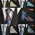 New Fashion Men's Business One Set Suit Pocket Hand Towel Ties Square Handkerchief Hanky