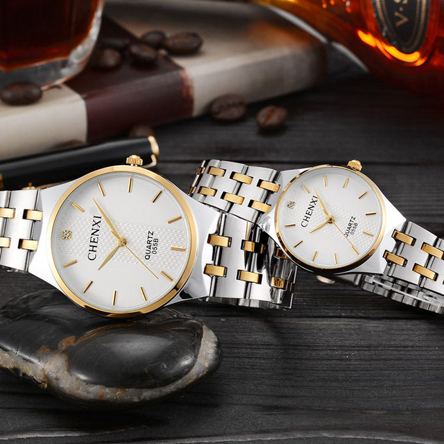 2018 New arrived famous branded men women dress quartz watches CHENXI luxury sty