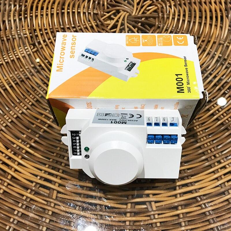 Intelligent microwave sensor switch microwave sensor 220V radar sensor switch corridor photoelectric sensor high frequency CM096 100% new and original fotek photoelectric switch a3g 4mx mr 1 free power photo sensor