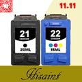 Quente para hp21 & 22 Cartucho De Tinta Para DESKJET 3910 3920 D1311D1320 d1330 d1341 d1360 cartucho para impressora para hp 21 e 22