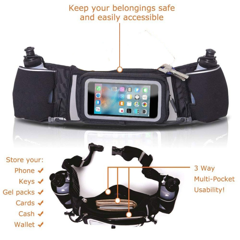 Outdoor jogging bag Multi-function mobile phone touch screen kettle pockets sports running mountaineering Waist bag pockets