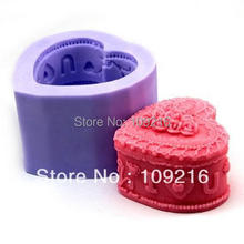 New Style 3D Cosmetic Box (LZ0102) Silicone Handmade Candle/Soap Mold Crafts DIY Mold