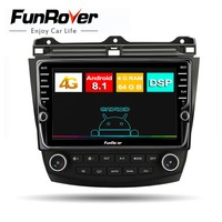 Funrover 4G+64G car radio multimedia Android8.1 for Honda Accord 7 2003 2007 DSP 2din car dvd gps navigation player Split screen