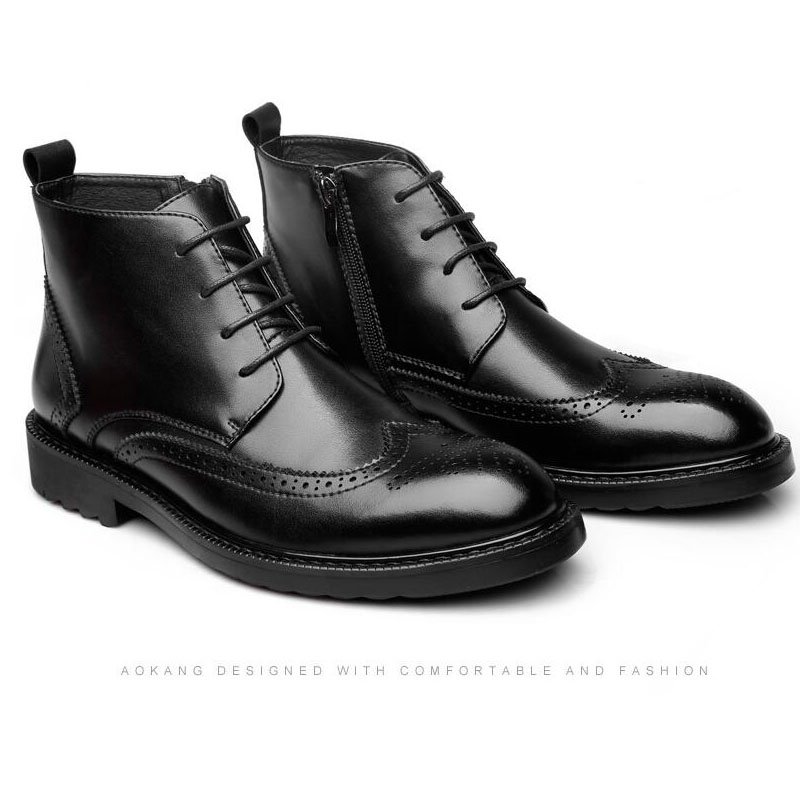 YIGER Genuine Leather Boots for Men 19