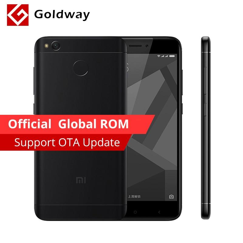 Original Xiaomi Redmi 4X 4 X 4GB RAM 64GB Mobile Phone Snapdragon 435 Octa Core 5.0 HD 4G LTE 13.0MP 4100mAh Fingerprint ID