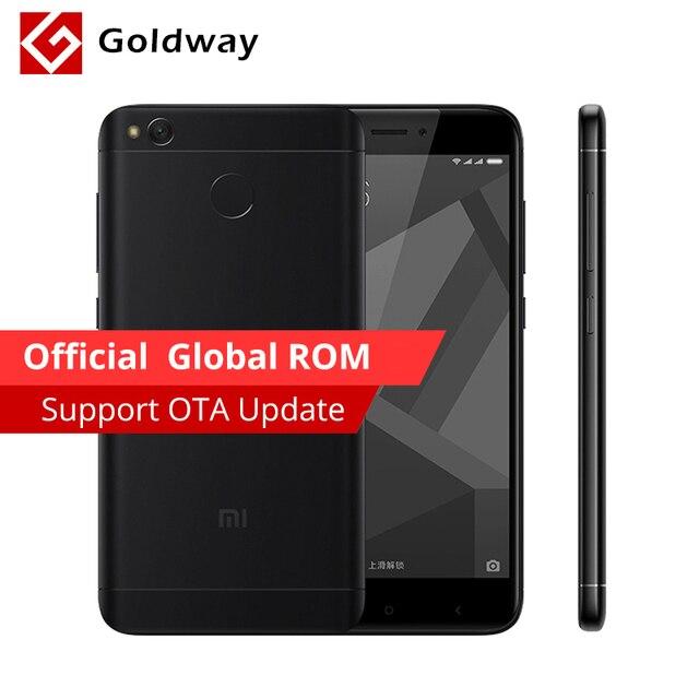 """Оригинальный Xiaomi Redmi 4x4 ГБ Оперативная память 64 ГБ мобильный телефон 4 x Snapdragon 435 Octa Core 5.0"""" HD 4 г LTE 13.0mp 4100 мАч отпечатков пальцев ID"""