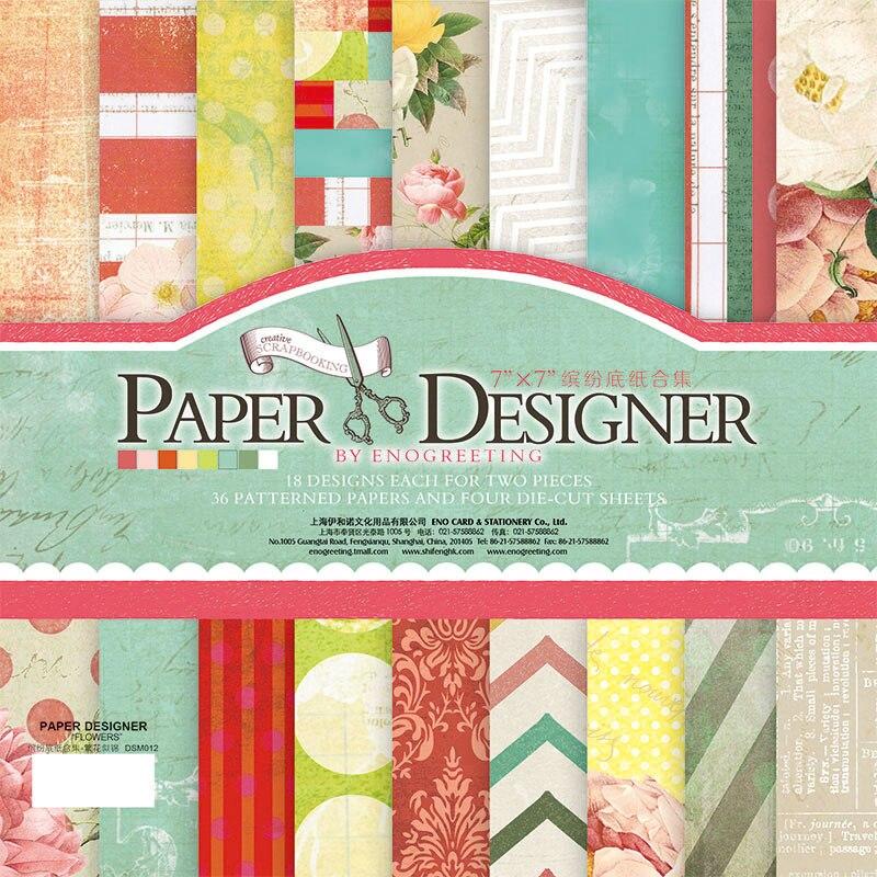 Aliexpress Com Buy 7 Paper Designer Vintage Scrapbook Paper For
