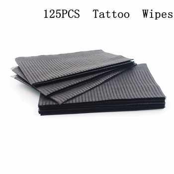 "125pcs 13\""X18\"" Black Tattoo Cleaning Wipes Disposable Dental Piercing Bibs Waterproof Sheets Paper Tattoo Tattoo Accessories - DISCOUNT ITEM  31 OFF Beauty & Health"