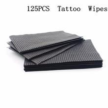 Toallitas limpiadoras desechables para tatuajes, 13x18 pulgadas, color negro, Baberos para Piercing Dental, hojas impermeables, accesorios para tatuaje de papel, 125 Uds.