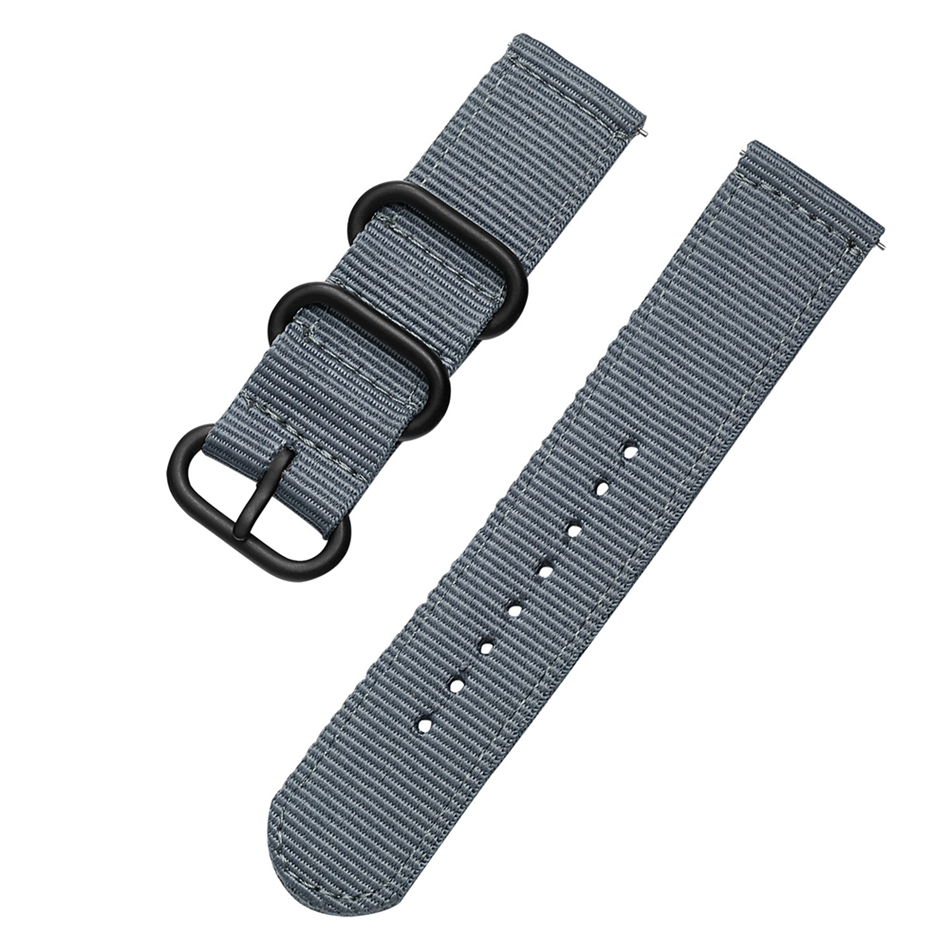 Canvas Nylon Wristband Strap For Xiaomi Amazfit Stratos 2 Pace Straps For Amazfit Bip Watch band For Samsung Gear S3 S2 Bracelet12