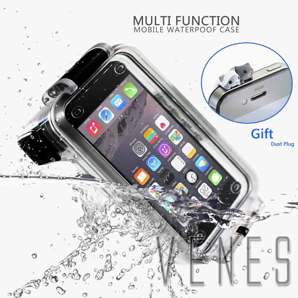 Pixco 30M Waterproof Case Suit For iPhone 6 i7 Swimming Diving Bluetooth Grip Remote Control Phone Cases cover For Samsung S8 S7
