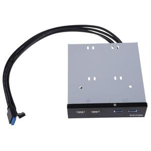 Image 3 - Profesjonalne DIY akcesoria PC 2 porty USB 3.0 + 2 porty USB 2.0 złącza 5.25 cala Floppy Bay uchwyt przedniego panelu AA