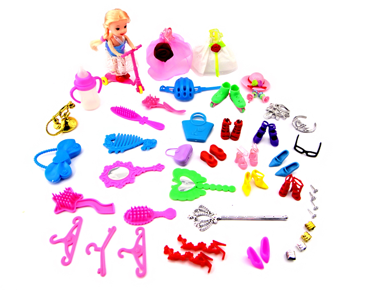 Free Transport,Woman birthday reward 36 pcs equipment for Barbie doll kurhn doll