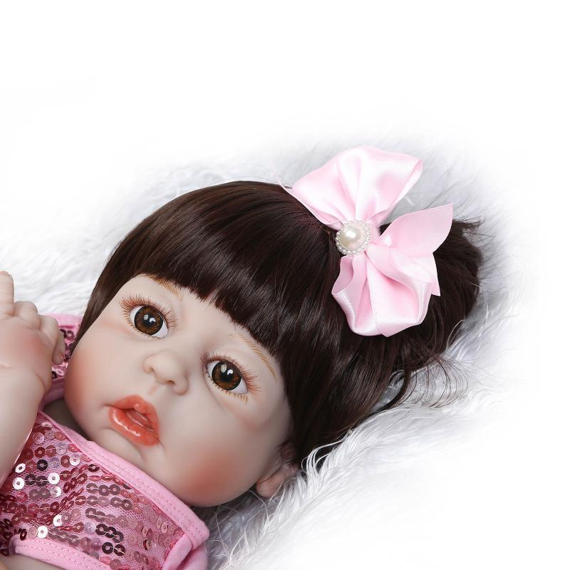 VinylReborn Simulation Baby Girls Full Rubber House Girl Toys Gift Hobby Collection Originality