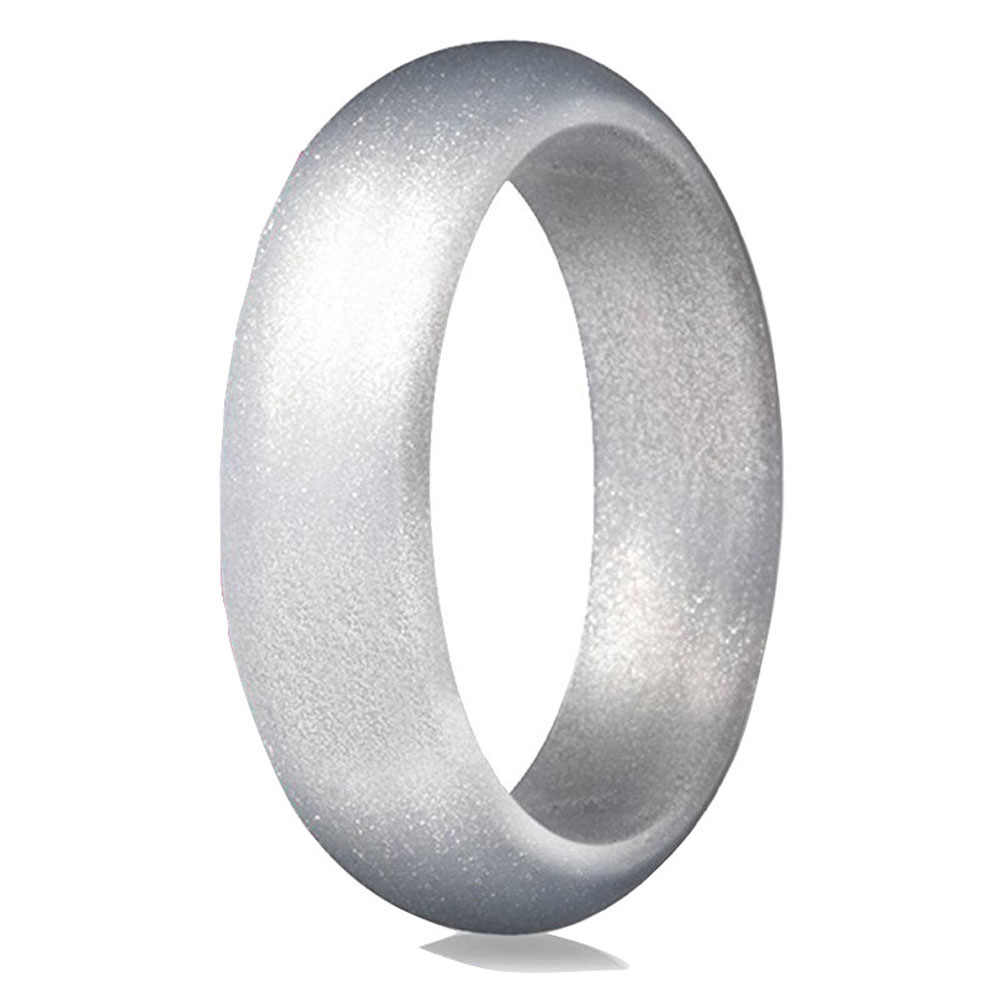 5.7mm Hypoallergenic Crossfit Flexible Rubber Ring 4-10 Size Food Grade FDA Silicone Finger Ring For Men Women Wedding Jewelry