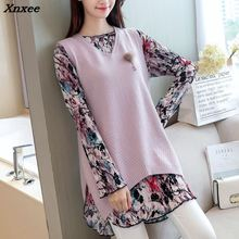 Xnxee New Korean autumn two set 72 new womens sweater