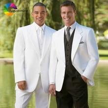 White Men Suits For Wedding Casual Bridegroom Groomsmen Custom Slim Fit Formal Blazer Tuxedo Costumes Homme Best Man Prom 3Piece