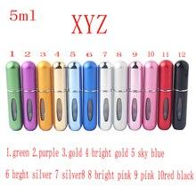 5ML Fashion Aluminum Star Shape Portable Travel Perfume Spray Empty Bottle Glass Perfume Cosmetics Sprayer Free Shipping