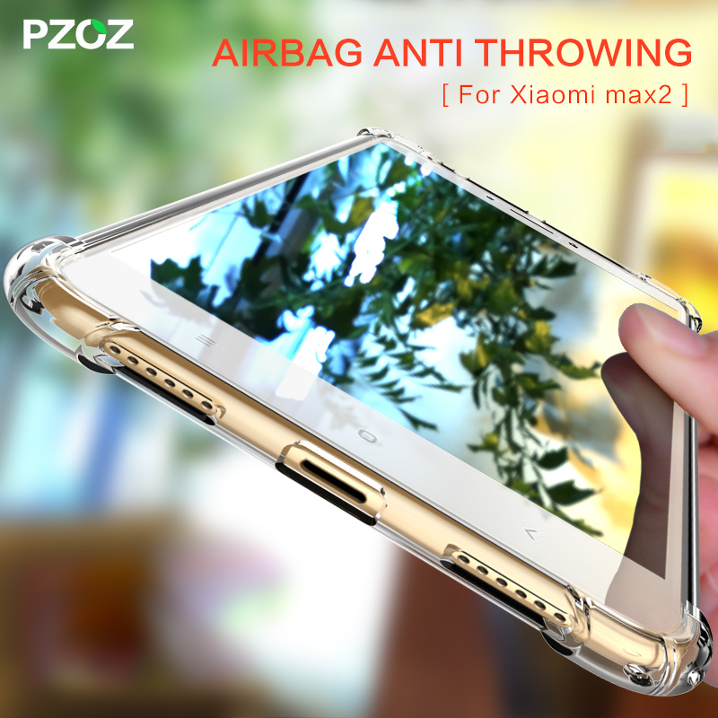 PZOZ For Xiaomi Mi Max 2 Case Funda TPU Shockproof Transparent Accessories 360 Bumper Silicone Cover For Xiaomi Mi Max2 Case