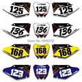 For SUZUKI RMZ450 2008 2009 2010 2011 2012 2013 2014 2015 2016 Custom Number Plate Backgrounds Graphics Sticker & Decals