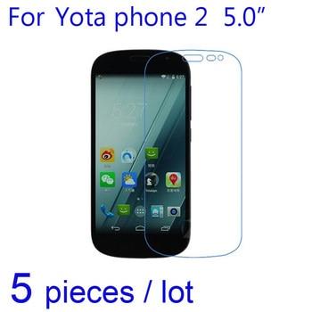 5 unids/lote protectores de pantalla suave para teléfono Yota 2 película protectora transparente/mate/Nano a prueba de explosiones para papel de aluminio Yotaphone 2 LCD frontal