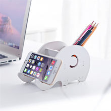 DIY Desktop Storage Creative Organising Shelf Small Racks Cellphone Racks iPad Tablet Bracket Docking Holder Pen Holder(China)