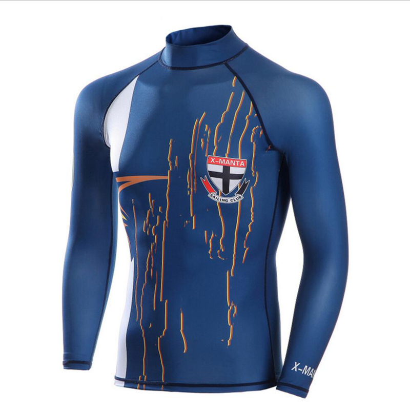 Men Sunscreen Quick Dry Diving Tops Wetsuits Equipment Snorkeling Jumpsuit One Piece Short Sleeved Surf Wear Rash Guards