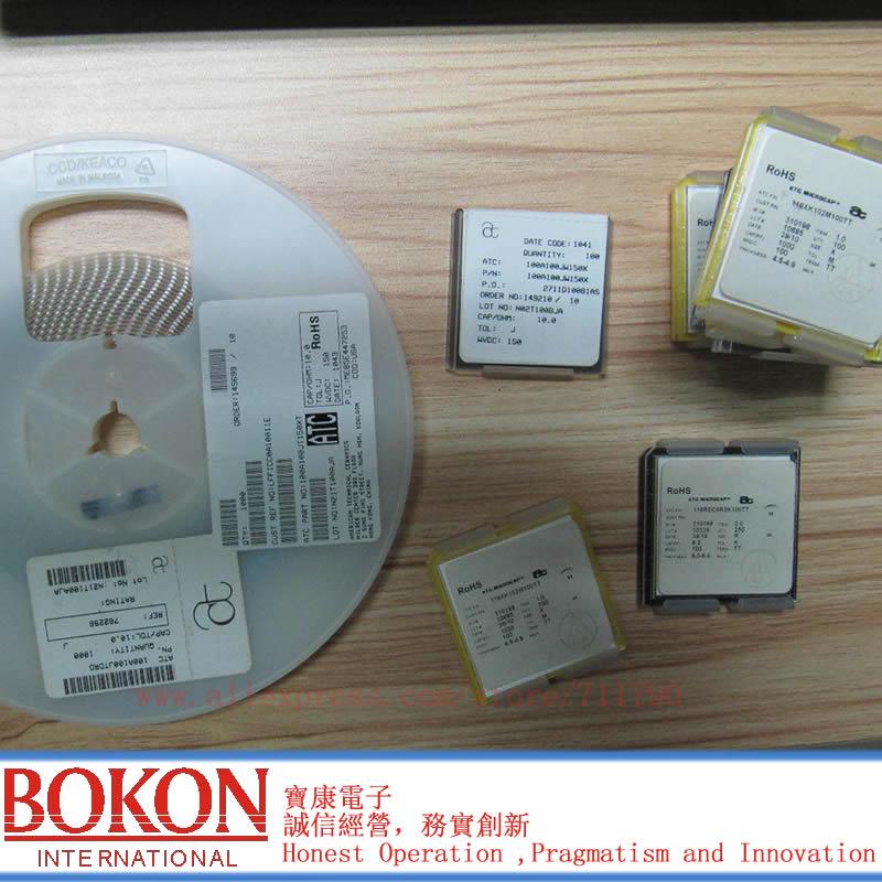 High Q Capacitors P90 ATC100B2R0BT500XT ATC100B2R0BW500XT ATC100B2R0BP500XT ATC100B2R0CT500XT  A2R0B A2R0C  2.0pF Chip Capacitor