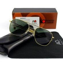 Модное высококачественное Брендовое дизайнерское солнцезащитное стекло es для мужчин американская армия военный пилот AO солнцезащитное стекло es мужские стеклянные линзы de sol OP55 OP57