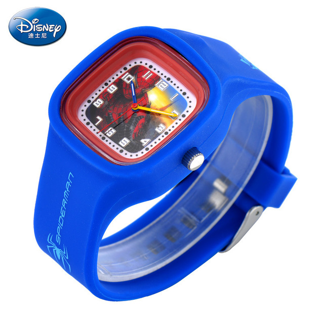 Children boys WristWatches Disney brands kids Boy waterproof quartz Silicone Square  watches relogio clocks student