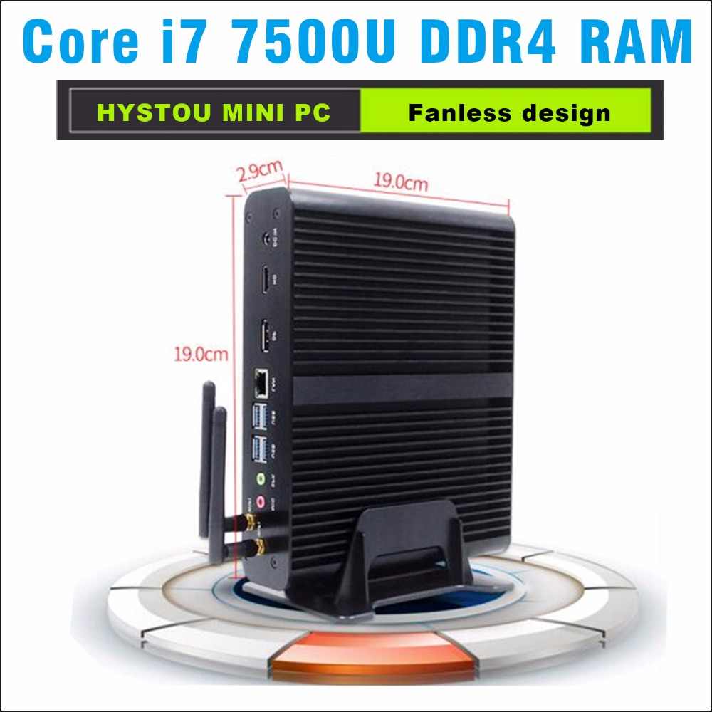 Core i7 7500u ddr4 hystou Kaby Lake Mini PC Windows 10 Computer DDR4 Intel HD Graphics 620 Micro PC Minipc 4K mini HTPC nettop partaker 7th gen intel core i7 7500u kaby lake mini pc ddr4 ram windows 10 micro pc 4k htpc linux kodi