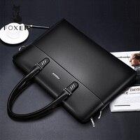 FOXER Men and Women Genuine Leather Briefcases Fashion Laptop Bag Messenger Bag Female Shoulder Bags Handbag