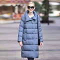 Plus size 90% White Duck Down Coat Women Ultra Light Down Jacket 2016 Winter Hooded Thick Long Parkas Woman piumino donna