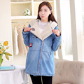 2016 Winter New Arrival Maternity Coat Pregnant Women Cotton-padded Clothes High Grade Berber Fleece Pregnancy Lady Denim Jacket