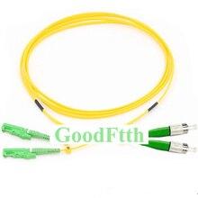 Câble de raccordement à fibres E2000/APC FC/APC FC E2000 APC SM Duplex GoodFtth 100 500m