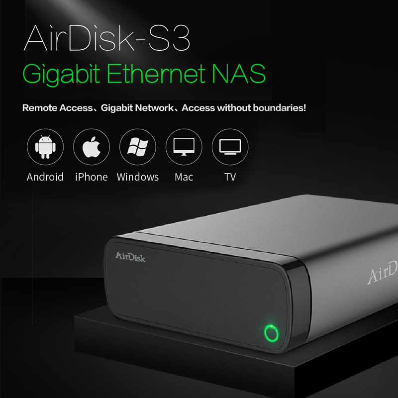 Airdisk S3 Mobile network hard disk USB3 0 Family Smart Network Cloud Storage Remotely Mobile Hard