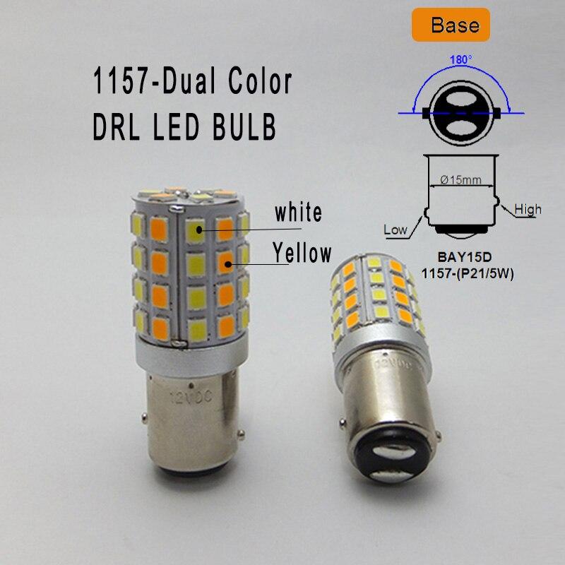 AMYWNTER 1157 P21 / 5W 1156 rəhbərlik edən Canbus LED gündüz - Avtomobil işıqları - Fotoqrafiya 2