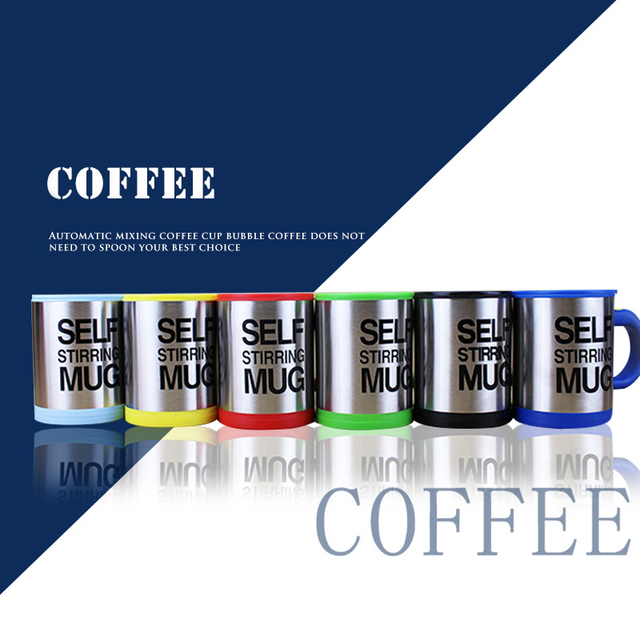 400ml Automatic Self Stirring Mug Coffee Milk Mixing Mug Stainless Steel Thermal Cup Electric Lazy Double Insulated Smart Cup 1