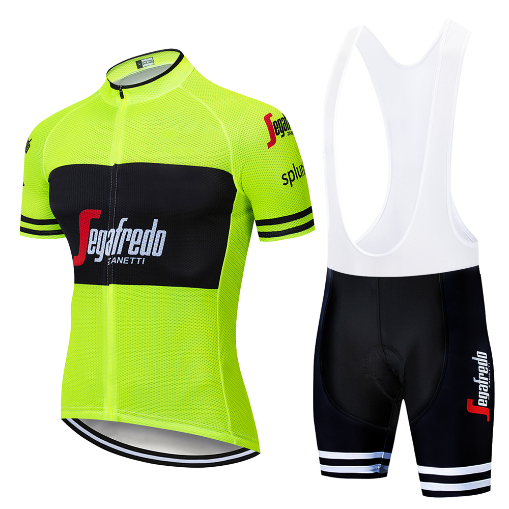 2019 Style Summer Men Cycling Jersey Short Sleeve Set Maillot Bib Shorts Bicycle Clothes Breathable Shirt Clothing Suit Pro Team
