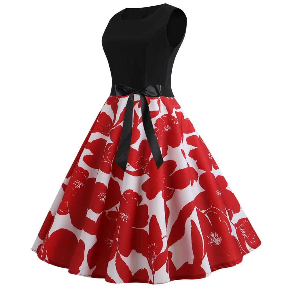 HTB1lBQ8bh rK1RkHFqDq6yJAFXae Women Summer Dresses 2019 Robe Vintage 1950s 60s Pin Up Big Swing Party Work Wear Rockabilly Dress Black Polka Dot Vestidos