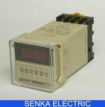 DH48S-S 0.1s~99h Repeat Cycle SPDT Time Relay Counter with Socket/Base AC110V/220V/380V/36V DC 24V/12V Timer