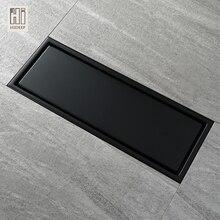 HIDEEP 30X11 см, анти-запах, черная краска, нержавеющая сталь, линейный дренаж пола, плитка для ванной комнаты, вставка, душ, слив, Прямая с фабрики